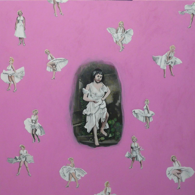 Oeuvre La robe de Marilyn Lopès-Curval Galerie des Tuiliers