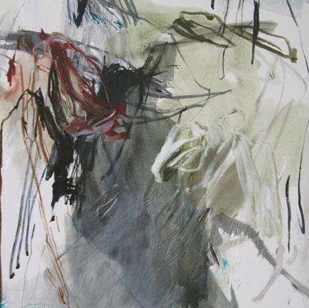 Ligne de partage, 162x114 cm, huile et medium sur toile